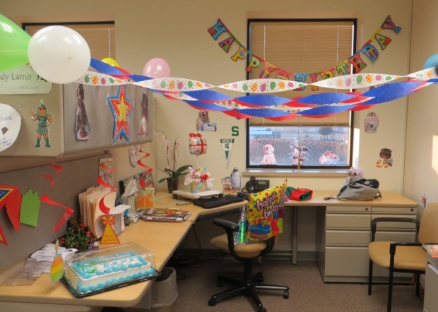 Luxury Office Birthday On Pinterest  Office Birthday Decorations Cubicle