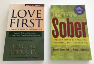 Love first and Get your loved one sober book covers