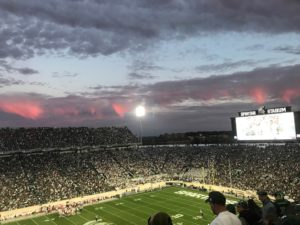 Michigan State University's Spartan Stadium - Homecoming October 21, 2017